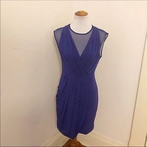 NWT Bcbgmaxazaria violet purple cocktail dress L
